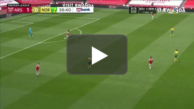 Arsenal 2-0 Norwich City: Granit Xhaka goal 37'