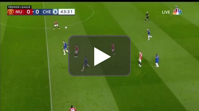 Fernandes great touch over the head of Havertz