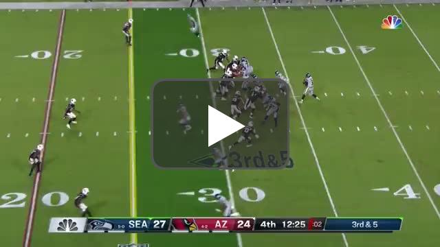 [Highlight] Russell Wilson gets picked off in the end zone by Patrick Peterson!