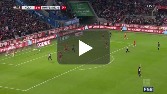 Köln 1-[1] Hoffenheim - Adamyan 48'