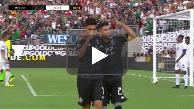 Mexico 2-0 Cuba - Raul Jiménez 31'