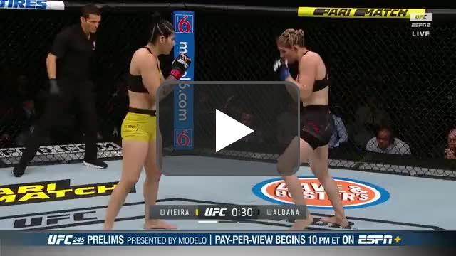 Irene Aldana turns Ketlen Vieira's lights out at UFC 245, ending Ketlen's unbeaten record in the process.