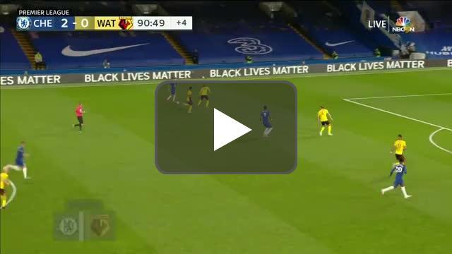 Chelsea 3-0 Watford: Ross Barkley goal 90+1'