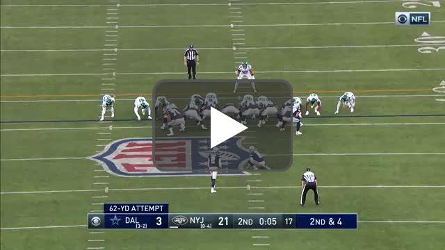 [Highlight] Brett Maher ties a team record with a 62 yard field goal