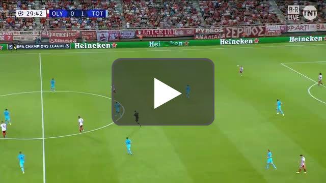 Olympiakos 0-2 Tottenham - Lucas Moura 30'