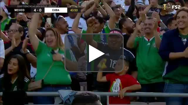 México 4-0 Cuba - Antuna 45