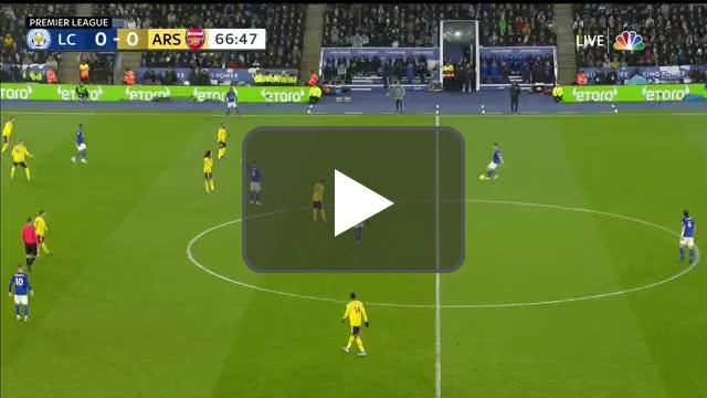 Leicester City 1-0 Arsenal - Vardy 68'