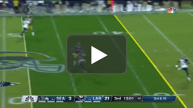 [Highlight] Shaquem Griffin pressures Goff, throws a pick 6 to Quandre Diggs!