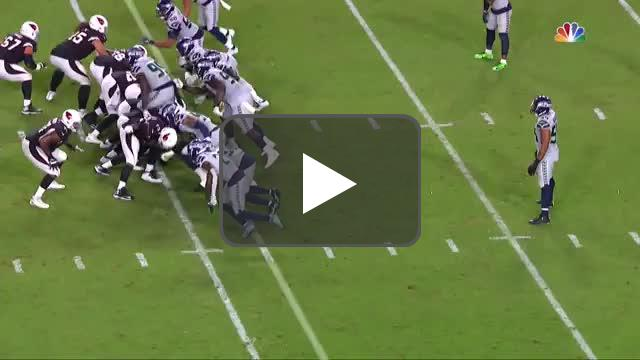 [Highlight] The play that earned the Seahawks an unsportsmanlike conduct penalty and gave the Cardinals a first down.