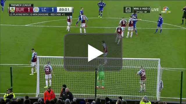 Burnley 1-[2] Leicester City - Wes Morgan 90'