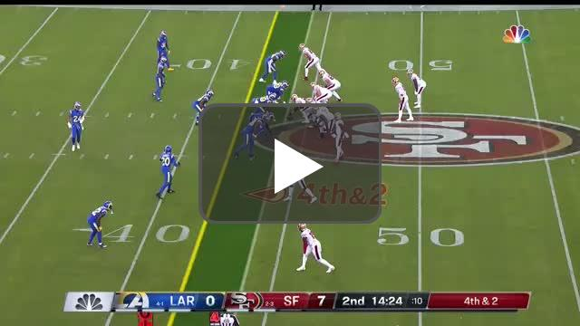 [Highlight] Garoppolo with a dart to Kittle for a 44 yard TD