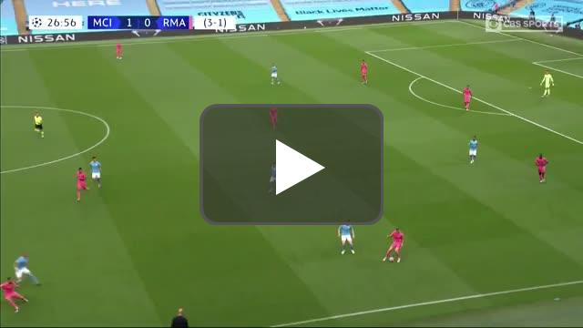 Manchester City 1-[1] Real Madrid: Karim Benzema goal 28' [3-2 agg.]