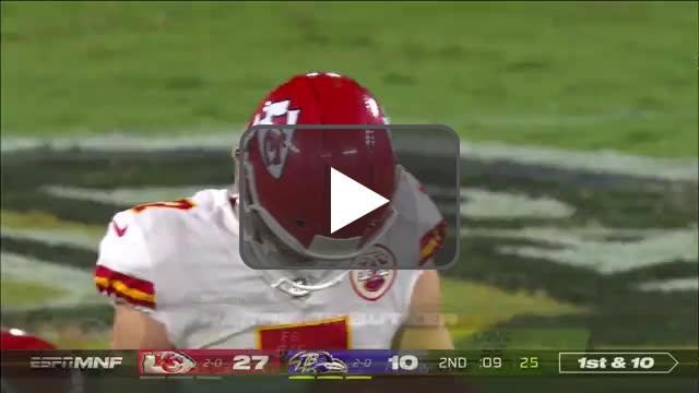 [Highlight] Butker has his 2nd miss of the night.