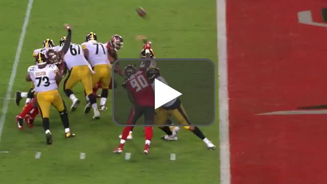 [Highlight] Jason Pierre-Paul roughing the passer call on Big Ben