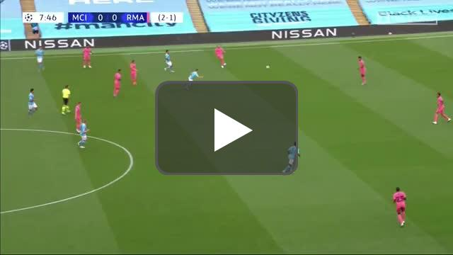 Manchester City 1-0 Real Madrid: Raheem Sterling goal 8' [3-1 agg.]