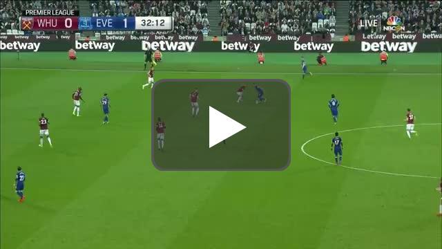 West Ham 0-2 Everton - Bernard 33'