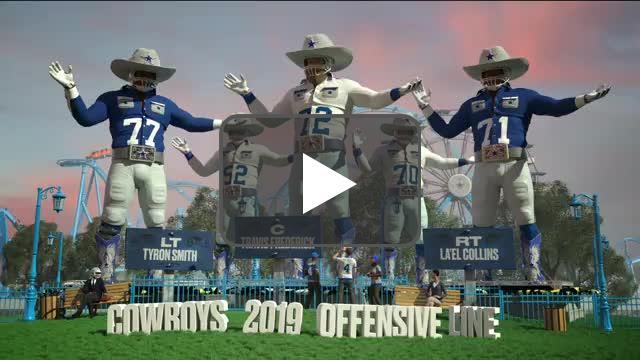 [Highlight] Cowboys' O-Line as Big Tex