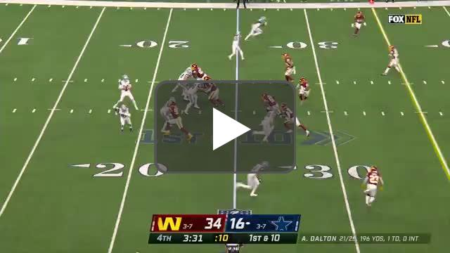 [Highlight] Montez Sweat recovers the ball and takes it in for the Football Team's 2nd touchdown in as many minutes!