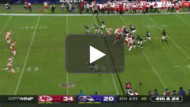 [Highlight] Ravens go for it on 4th and 24, fail.