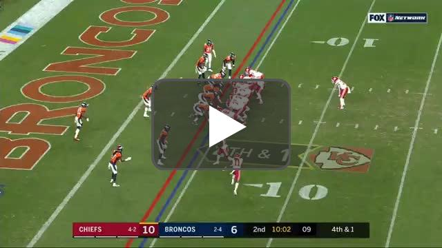 [Highlight] Mahomes converts the sneak but stays down on the field