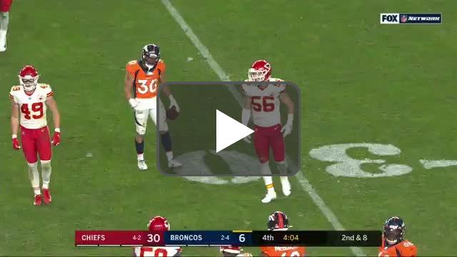 [Highlight] Flacco leads Lindsey into a hard hit with an ill advised pass