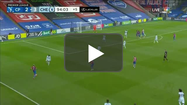 S. Dann (Crystal Palace) chance hits post vs. Chelsea 90+5'