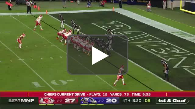 [Highlight]Mahomes throws 4th TD pass to make it a 2 score game